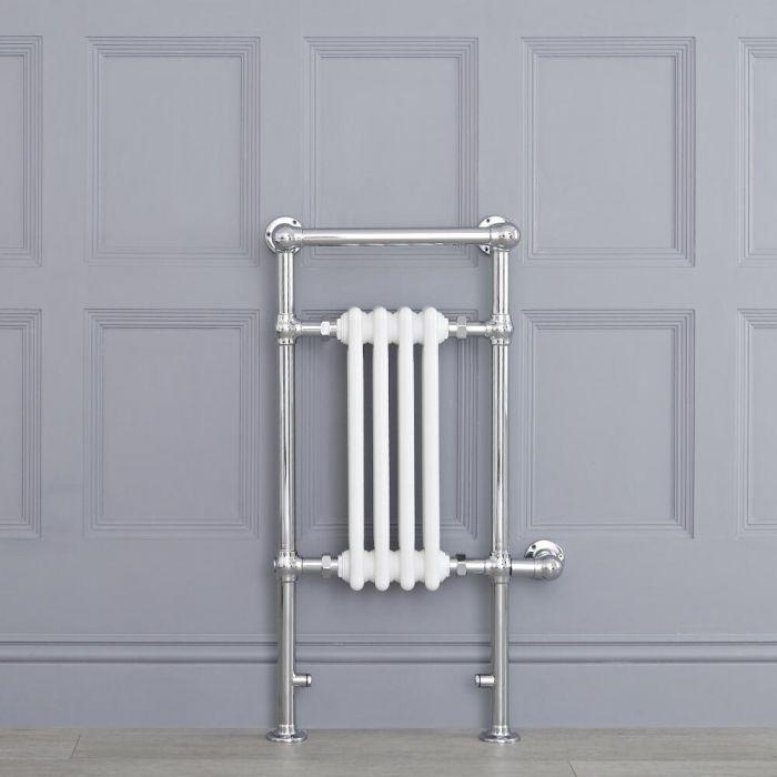 Sèche-serviettes électrique Rétro Blanc & Chrome Avon 93 x 45 x 23cm