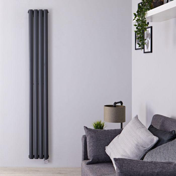 Radiateur Design Électrique Vertical Anthracite Vitality 178cm x 23,6cm x 7,8cm
