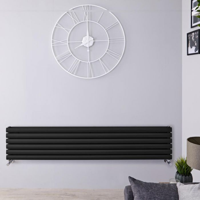 Radiateur Design Horizontal Noir Vitality 35,4cm x 178cm x 7,8cm 1325 Watts