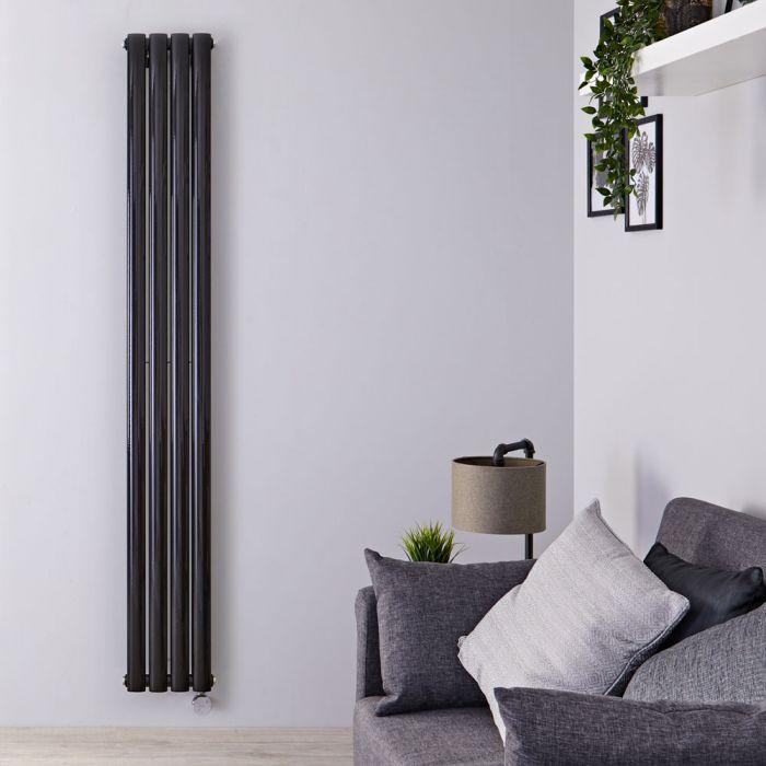 Radiateur Design Électrique Vertical Noir Vitality 178cm x 23,6cm x 7,8cm