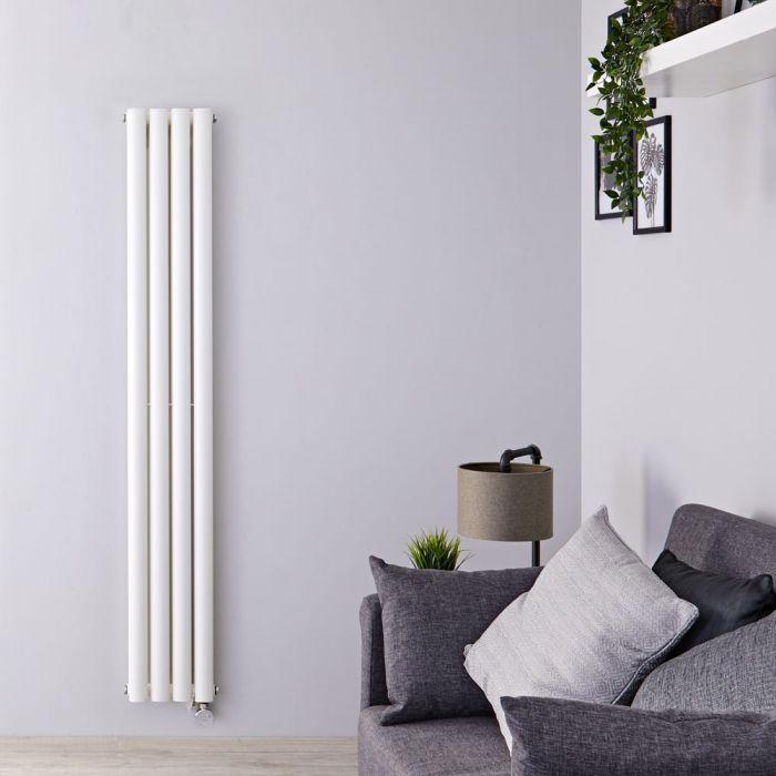 Radiateur Design Électrique Vertical Blanc Vitality 178cm x 23,6cm x 7,8cm