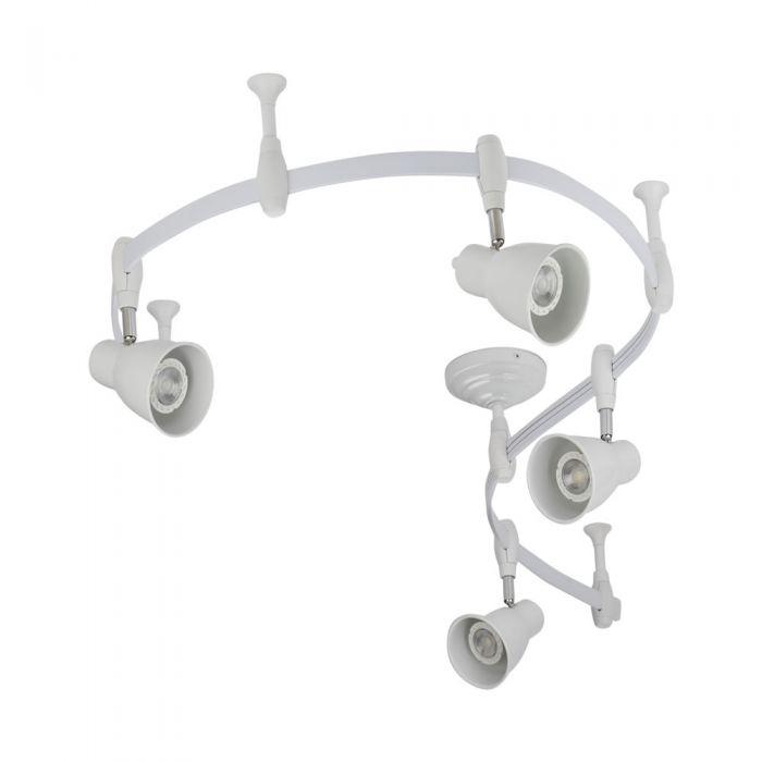 Biard Spot LED Pack de 4 & Rail Flexible 2m Panza Blanc