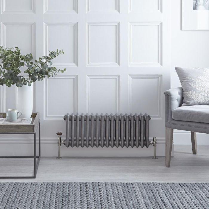 Radiateur horizontal Style Fonte Acier Brut Windsor 30cm x 78.9cm x 10cm 687 Watts