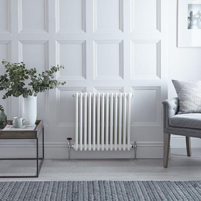 Radiateur Horizontal Style Fonte Blanc Windsor 60,5cm x 60,8cm x 10cm 950 Watts