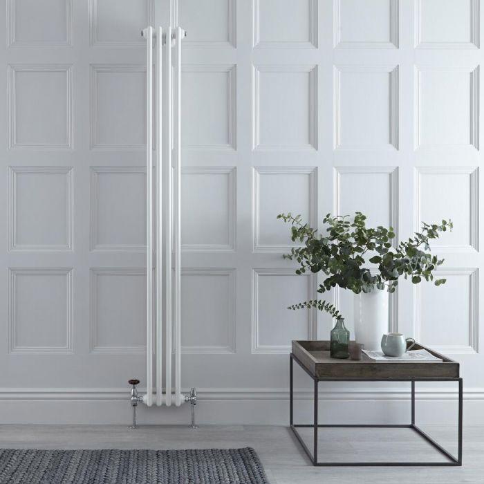 Radiateur Vertical Style Fonte Blanc Windsor 180cm x 20cm x 6,8cm 622 Watts