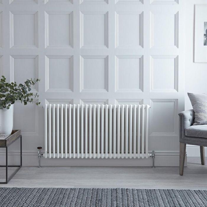 Radiateur Horizontal Style Fonte Blanc Windsor 60cm x 119cm x 6,8cm 1476 Watts