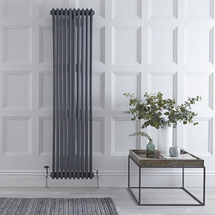 Radiateur Vertical Style Fonte Anthracite Windsor 180cm x 47cm x 10cm 2171 Watts