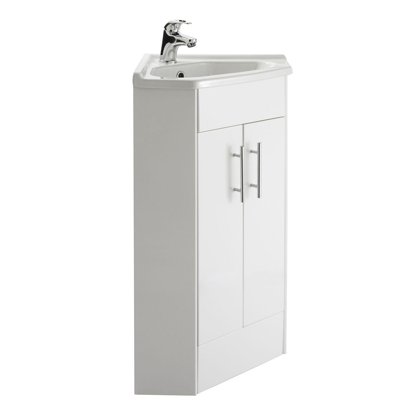 Meuble-lavabo d\'angle lave-mains