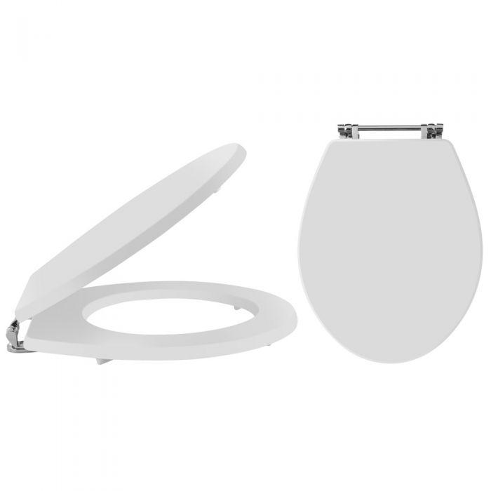 Abattant toilette WC Richmond rétro blanc