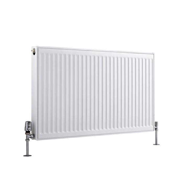 Radiateur À Panneaux Type 21 Horizontal Blanc Eco 60cm x 100cm x 7,3cm 1339 Watts