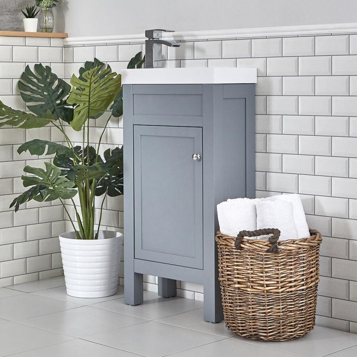 Meuble lave-mains – 44 cm – Gris clair - Warwick