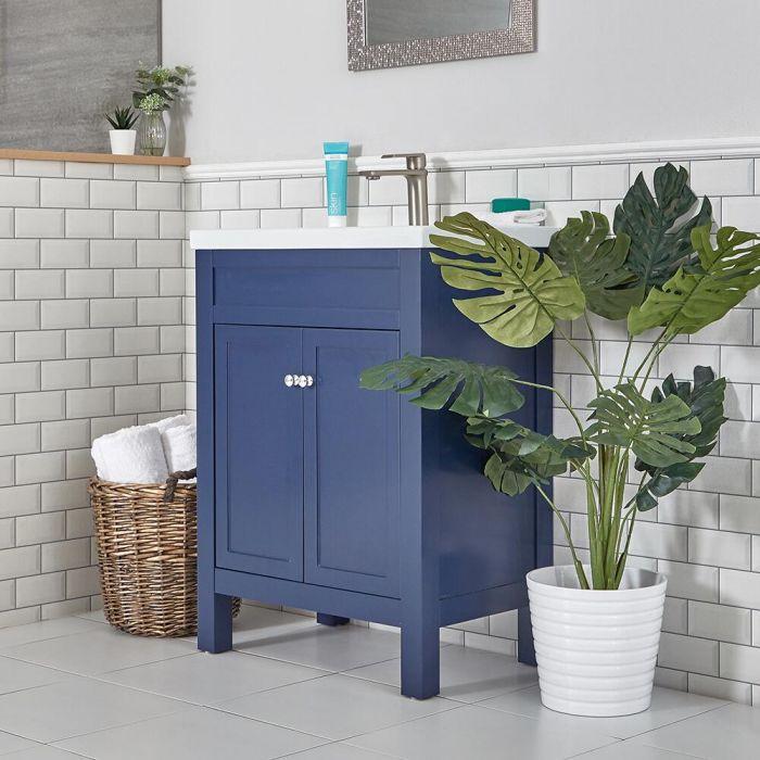 Meuble lavabo – 60 cm – Bleu marine - Warwick