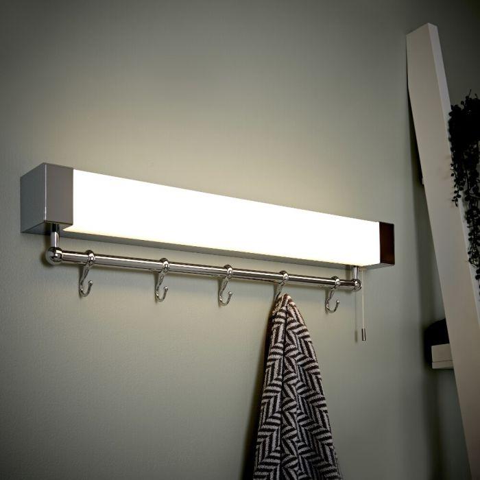 Étagère salle de bain lumineuse 14.5x60x12cm Achen