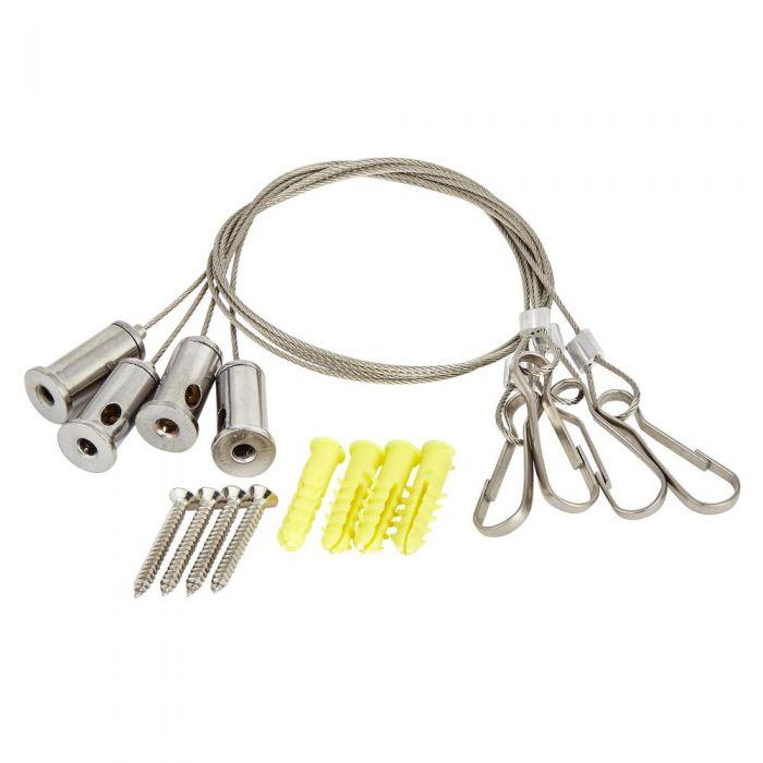 Câbles suspension pommeau de douche encastrable - Jeu de 4