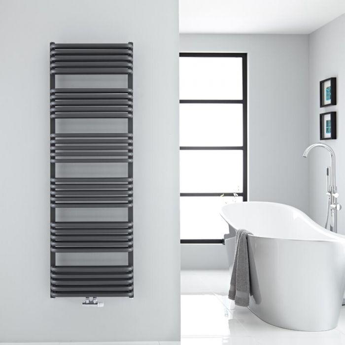 Sèche-serviettes eau chaude Arch anthracite 153,3x50cm 1524 watts