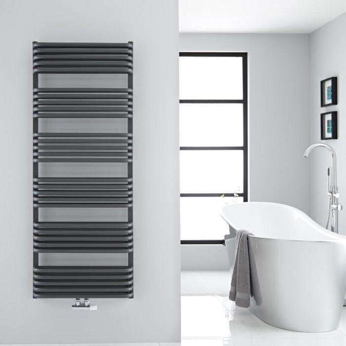 Sèche-serviettes eau chaude Arch anthracite 153,3x60cm 1818 watts