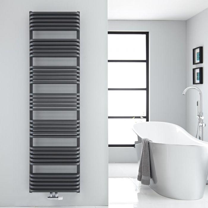 Sèche-serviettes eau chaude Arch anthracite 180x50cm 1740 watts