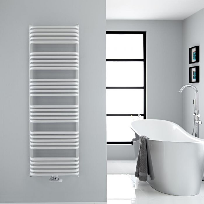 Sèche-serviettes eau chaude blanc Arch 153.3x50cm 1524 watts