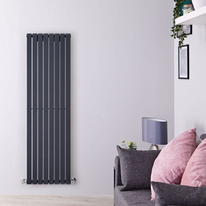 Radiateur Design Vertical Anthracite Sloane 160cm x 47,2cm x 5,4cm 1149 Watts