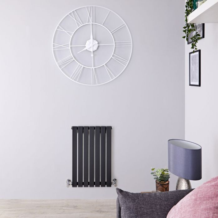 Radiateur Design Horizontal Anthracite Sloane 63,5cm x 42cm x 5,4cm 421 Watts