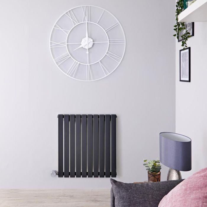 Radiateur design électrique horizontal - Anthracite - 63,5 cm x 60 cm x 5,4 cm - Sloane