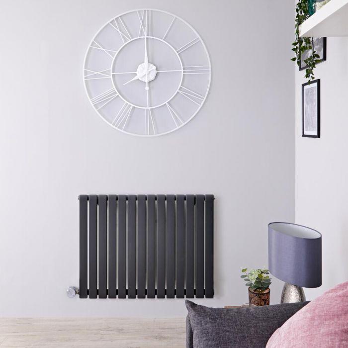 Radiateur design électrique horizontal - Anthracite - 63,5 cm x 83,4 cm x 5,4 cm - Sloane