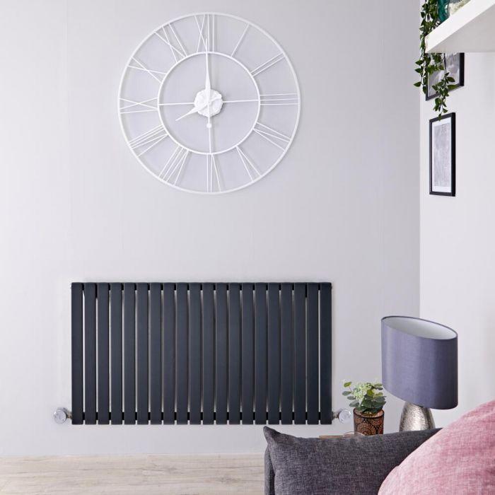 Radiateur design électrique horizontal - Anthracite - 63,5 cm x 118 cm x 5,3 cm - Sloane