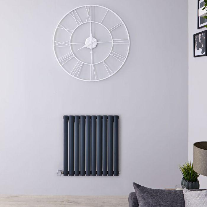 Radiateur design électrique horizontal - Anthracite - 63,5 cm x 59,5 cm x 5,5 cm - Vitality