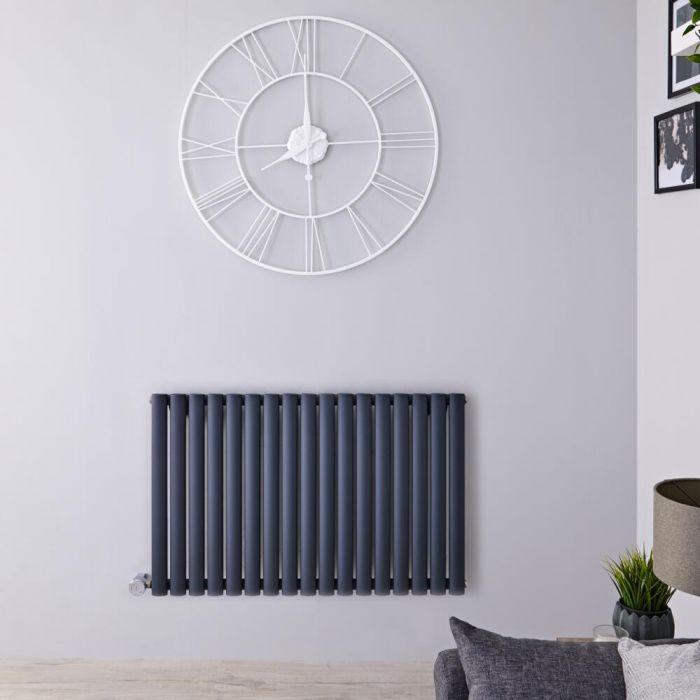 Radiateur design électrique horizontal - Anthracite - 63,5 cm x 100 cm x 5,5 cm - Vitality