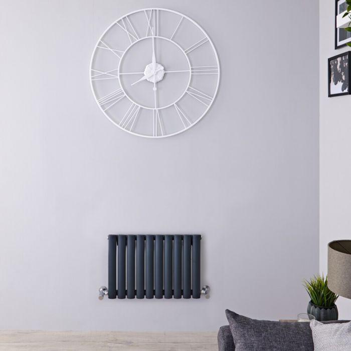 Radiateur horizontal anthracite Vitality 40 x 59.5cm 406 watts