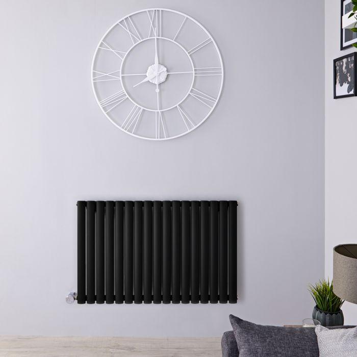 Radiateur design électrique horizontal - Noir - 63,5 cm x 100 cm x 5,5 cm - Vitality