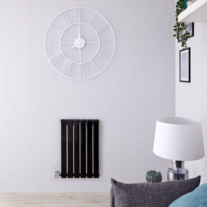 Radiateur design électrique horizontal - Noir - 63,5 cm x 42 cm x 4,6 cm - Delta