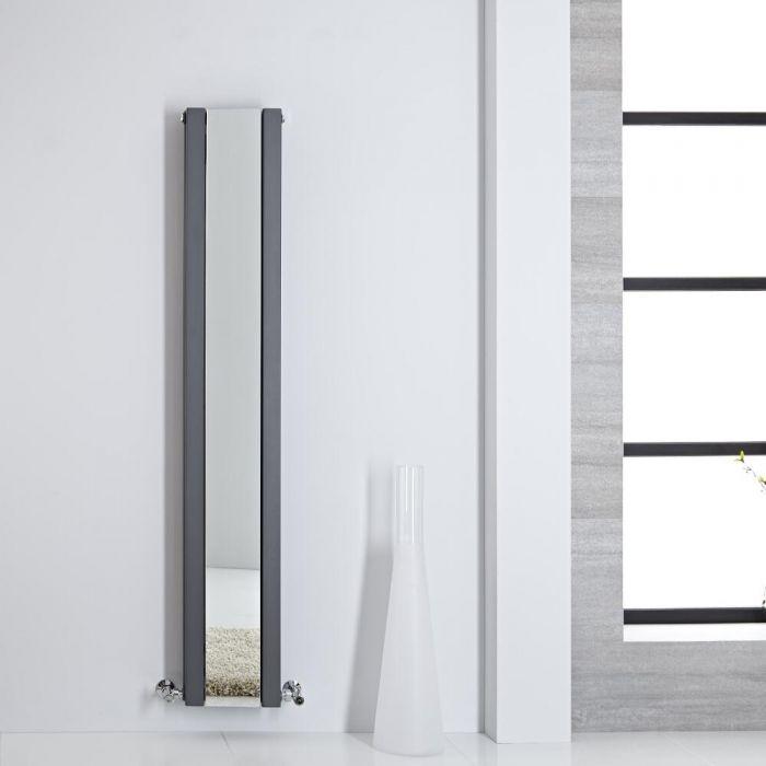 Radiateur miroir anthracite Sloane 160x26.5cm 789 watts