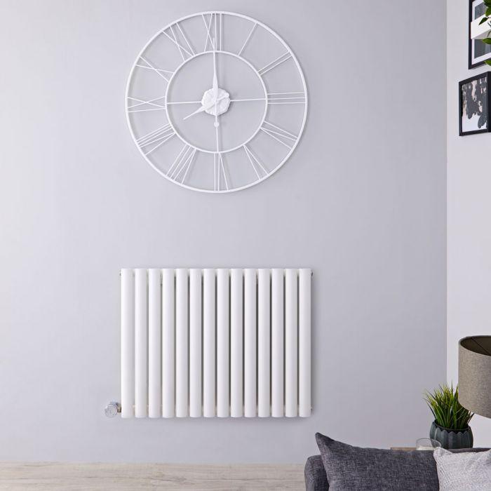 Radiateur design électrique horizontal – Blanc - 63,5 cm x 83,4 cm x 5,6 cm - Vitality