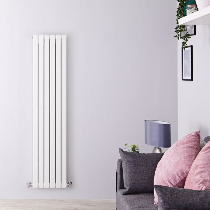 Radiateur Design Vertical Blanc Sloane 160cm x 35,4cm x 7,2cm 1193 Watts