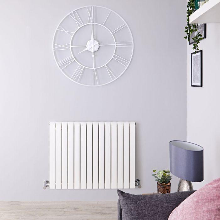 Radiateur Design Horizontal Blanc Sloane 63,5cm x 118cm x 5,4cm 1203 Watts