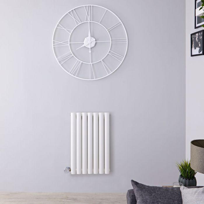 Radiateur design électrique horizontal - Blanc - 63,5 cm x 41,5 cm x 5,5 cm - Vitality