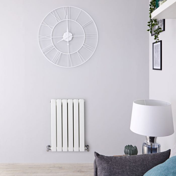 Radiateur Design Horizontal Blanc Delta 63,5cm x 42cm x 5,8cm 573 Watts
