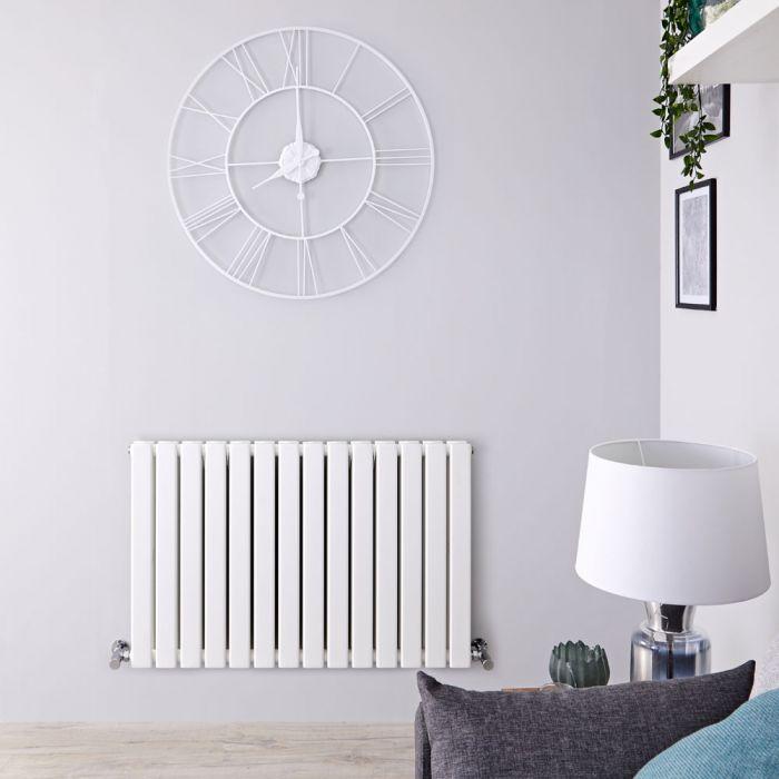 Radiateur Design Horizontal Blanc Delta 63,5cm x 98cm x 5,8cm 1338 Watts