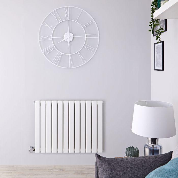 Radiateur design électrique horizontal - Blanc - 63,5 cm x 84 cm x 4,6 cm - Delta