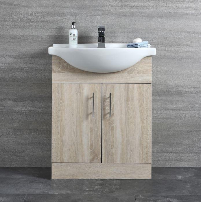 Meuble-lavabo 65x78x45cm Classic Oak