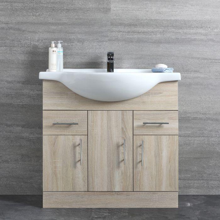 Meuble-lavabo 85x78x48cm Classic Oak