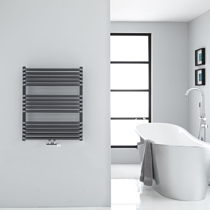 Sèche-serviettes eau chaude Arch anthracite 73,6x60cm 896 watts