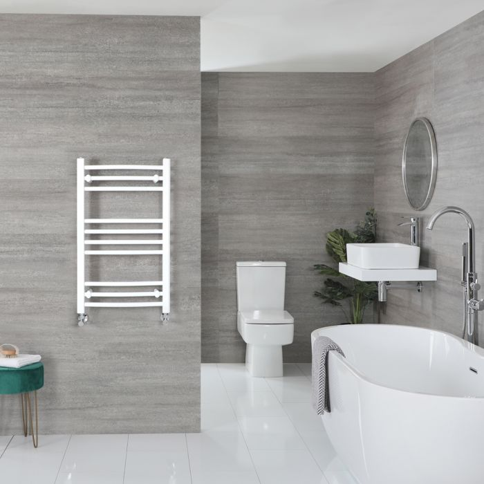 Sèche-serviettes incurvé – Blanc – 80 cm x 50 cm - Ive