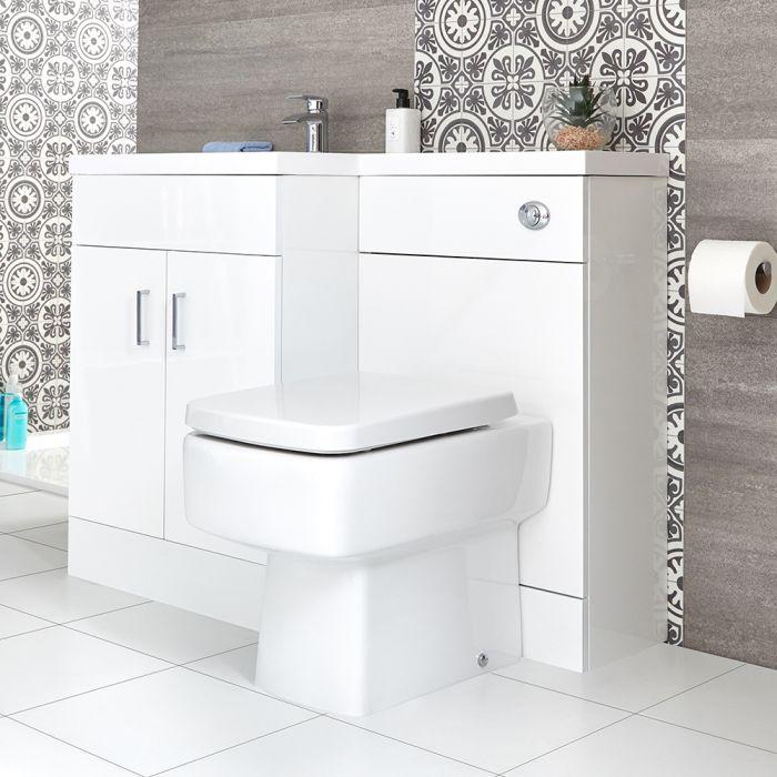 Ensemble WC et lavabo à gauche – Blanc – Geo