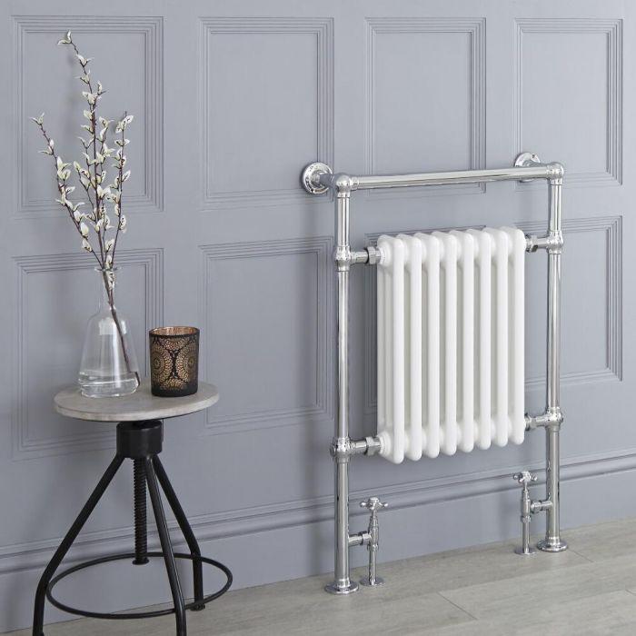 Sèche-serviettes rétro - Blanc - 93cm x 62cm x 15,5cm - Elizabeth
