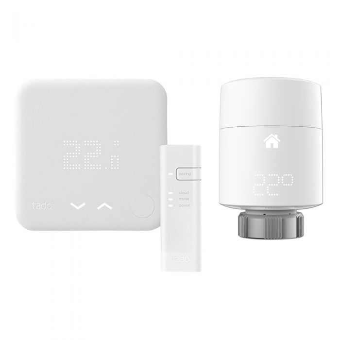 Thermostat Intelligent - Kit de Démarrage (V3) 2 Têtes thermostatique Verticales Tado°