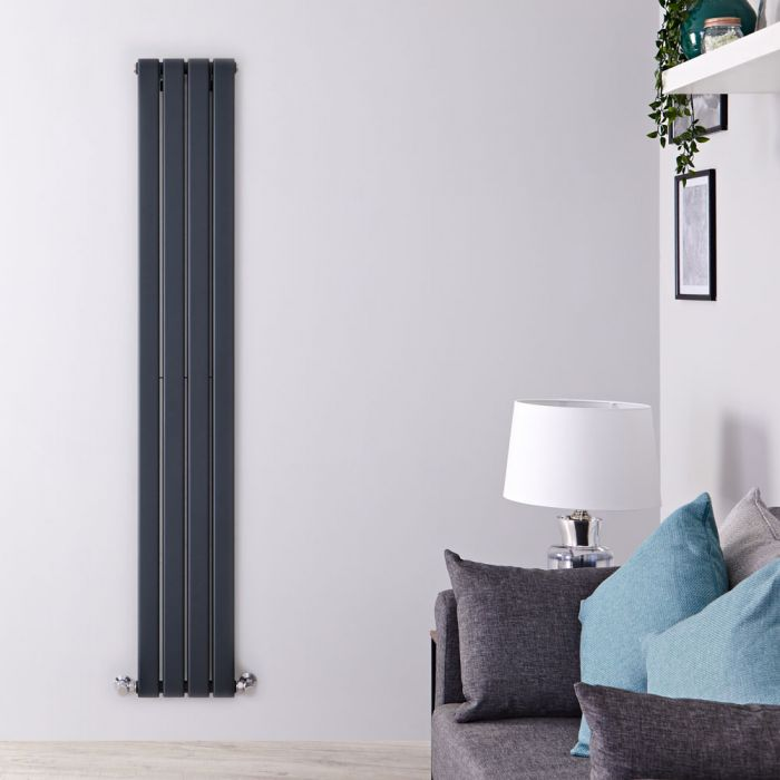 Radiateur Design Vertical Anthracite Delta 178cm x 28cm x 6cm 990 Watts