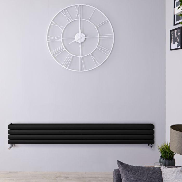Radiateur Design Horizontal Noir Vitality 23,6cm x 178cm x 7,8cm 921 Watts