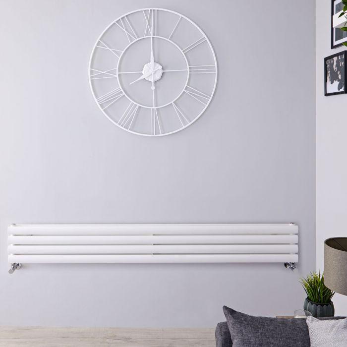Radiateur Design Horizontal Blanc Vitality 23,6cm x 178cm x 7,8cm 921 Watts